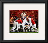 The Texas Rangers Celebrate winning the 2010 ALCS Framed Photographic Print