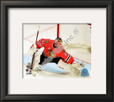 Antti Niemi Game One of the 2010 NHL Stanley Cup Finals Framed Photographic Print