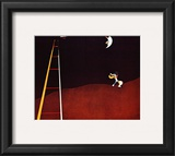 Dog Barking at the Moon Art by Joan Miró