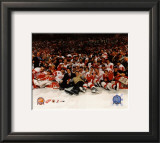 2002 Detroit Red Wings Championship Celebration 01 Framed Photographic Print
