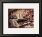 Sonata by Firelight Print by Judy Gibson