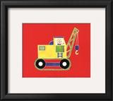 Cat in a Crane Art by Shelly Rasche