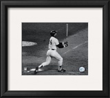 Reggie Jackson- 1977 World Series, 6th (last) Game, 3rd Home Run Framed Photographic Print