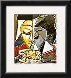 Tete d'une Femme Lisant Poster by Pablo Picasso