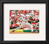 Adam Wainwright 2010 Action Framed Photographic Print