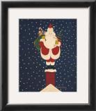 Chimney Santa Art by Warren Kimble