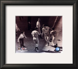Ted Williams - Homeplate (sepia) Framed Photographic Print