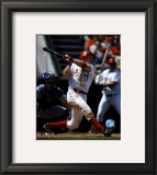 Darin Erstad - 2004 Batting Action Framed Photographic Print
