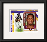 Adrian Peterson 2010 Studio Plus Framed Photographic Print