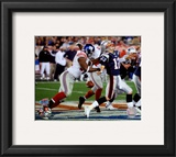 Justin Tuck - Super Bowl XLII Framed Photographic Print