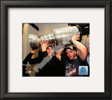 Jonathan Toews & Patrick Kane With the 2010 Stanley Cup Framed Photographic Print
