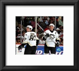 Sidney Crosby And Mario Lemieux Framed Photographic Print
