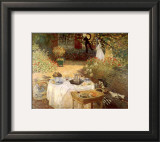 Luncheon in the Garden Print by Claude Monet