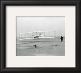 First Flight Kitty Hawk, N. Carolina - Orville & Wilbur Wright Framed Photographic Print