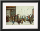 Waiting for the Shop to Open Prints by Laurence Stephen Lowry