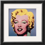 Marilyn, c.1964 (On Dark Gray-Blue) Print by Andy Warhol