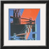 Brooklyn Bridge, c.1983 (pink, red, blue) Prints by Andy Warhol