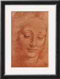 Testa di Giovinetta Posters by  Leonardo da Vinci