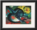 Two Cats Prints by Franz Marc