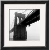 Brooklyn Bridge Fog Posters by Henri Silberman