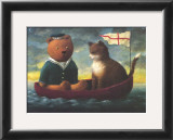 Teddy in a Boat Art by Mary Mackey