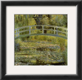 Water Lily Pond and Bridge Poster by Claude Monet