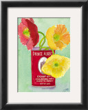 Flowers in a Red Can Posters by Robbin Gourley