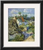 Houses at Auvers, c.1890 Prints by Vincent van Gogh