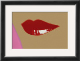 Page from Lips Book, c. 1975 Poster by Andy Warhol