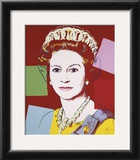 Reigning Queens: Queen Elizabeth II of the United Kingdom, c.1985 (Dark Outline) Posters by Andy Warhol