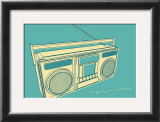 Lunastrella Boombox Prints by John Golden