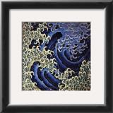 Masculine Wave (detail) Poster by Katsushika Hokusai