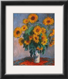 Vase of Sunflowers Art by Claude Monet