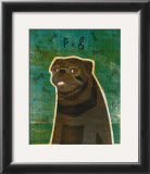 Pug (black) Prints by John Golden