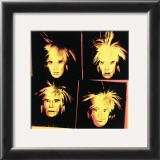 Self-Portrait, c.1986 (Four Yellow Andy's) Posters by Andy Warhol