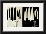 Knives, c.1982 (Cream and Black) Print by Andy Warhol