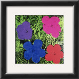 Flowers (Purple, Blue, Pink, Red) Print by Andy Warhol