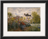 The Artist's Garden at Argenteuil Prints by Claude Monet