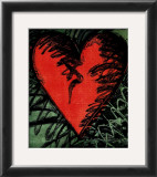Rancho Woodcut Heart Prints by Jim Dine