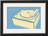 Lunastrella Record Player Print by John Golden