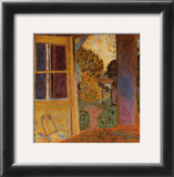 Door Open Onto the Garden Prints by Pierre Bonnard