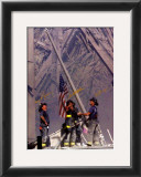 Firemen Raising The Flag At Wtc Print by Thomas E. Franklin