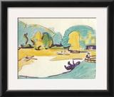 Park Landscape in Dresden, c.1910 Prints by Ernst Ludwig Kirchner