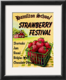 Strawberry Festival Poster by Catherine Jones