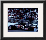 Dale Earnhardt Car On Track - Side View Framed Photographic Print