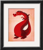 Red Dragon Print by John Golden