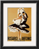 Rosario and Antonio, 1949 Poster by Paul Colin