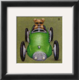 Le Bolide Vert Print by Raphaele Goisque