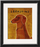 Dachshund (red) Posters by John Golden
