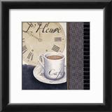 L'Heure du Cafe Prints by Linda Wood